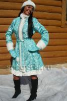 Костюм Снегурочки бирюзовый (№ 14)