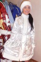Костюм Снегурочки серебряный (№24)